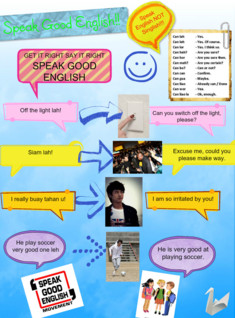 Speak Good English Poster