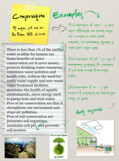 Conservation of air, soil, and water