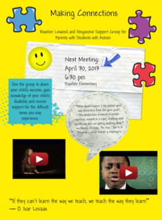 Autism Support Group Flyer