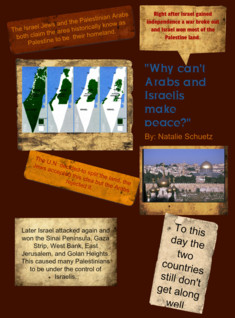why can't arabs and israelis make peace?