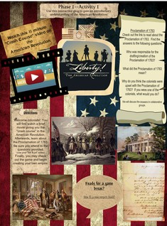 The American Revolution - Phase 1 Activities