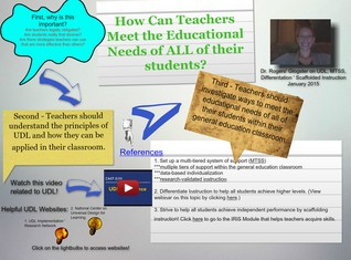 Dr. Rogers' Glogster Example on UDL, MTSS, & Differentiation
