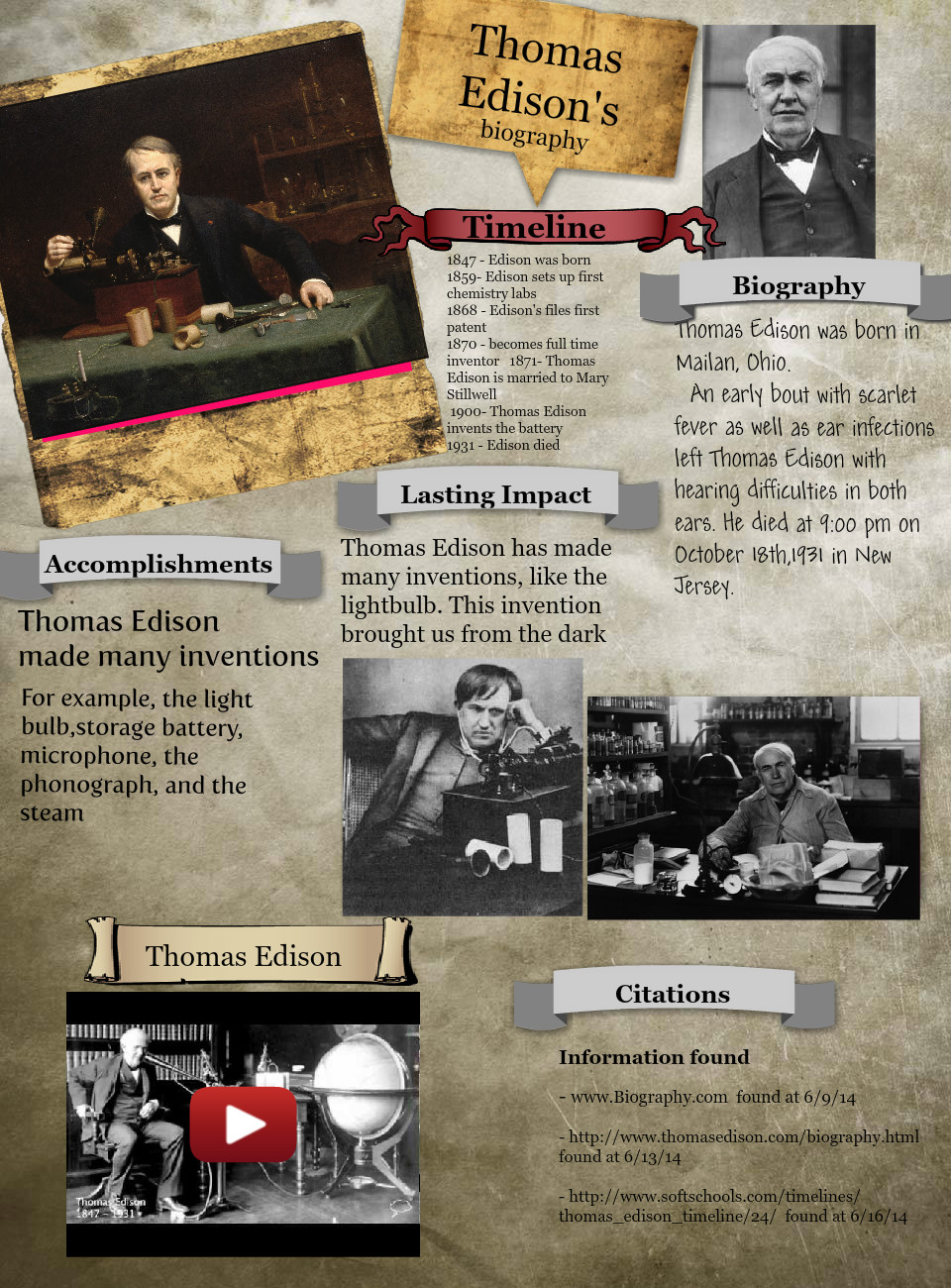 Thomas Edison's Biography