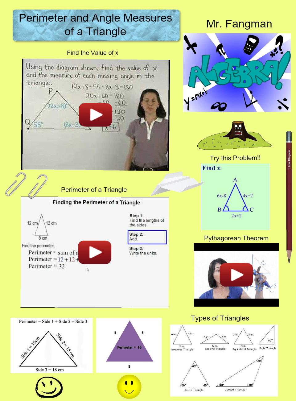 Perimeter and Angle Measures of a Triangle