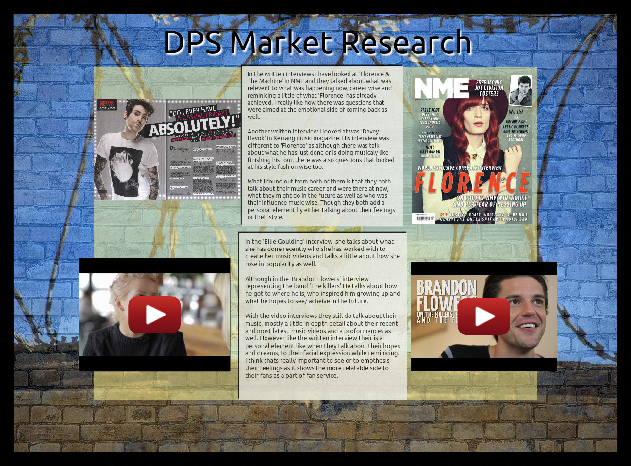 DPS market research