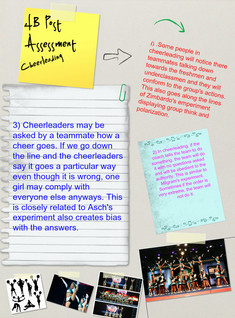 4B Post Assessment Kayla Sauls Cheerleading