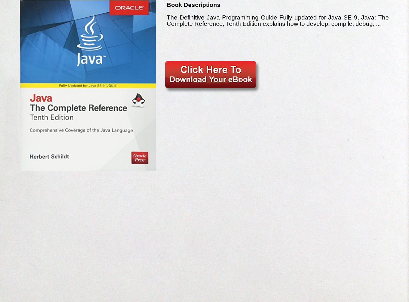 Download Ebook Java The Complete Reference Tenth Edition Complete