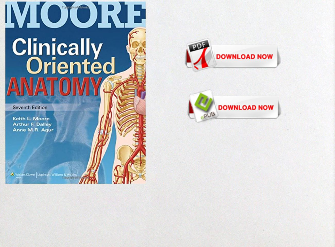 Free Download] PDF Ebook Clinically Oriented Anatomy: text, images ...