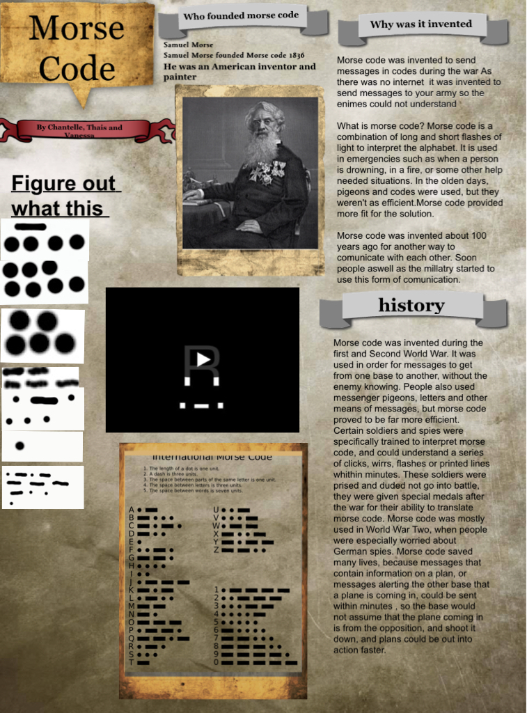morse code: text, images, music, video | Glogster EDU