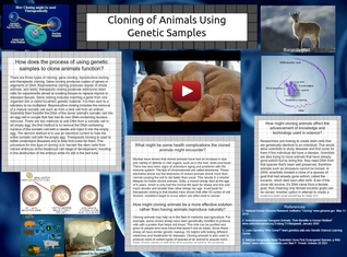 Cloning of animals using genetic samples