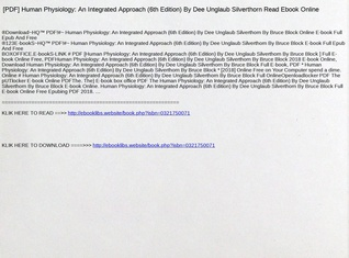 Pdf human physiology an integrated approach 6th edition by du pdf human physiology an integrated approach 6th edition by du silverthorn read ebook online text images music video glogster edu interactive fandeluxe Image collections