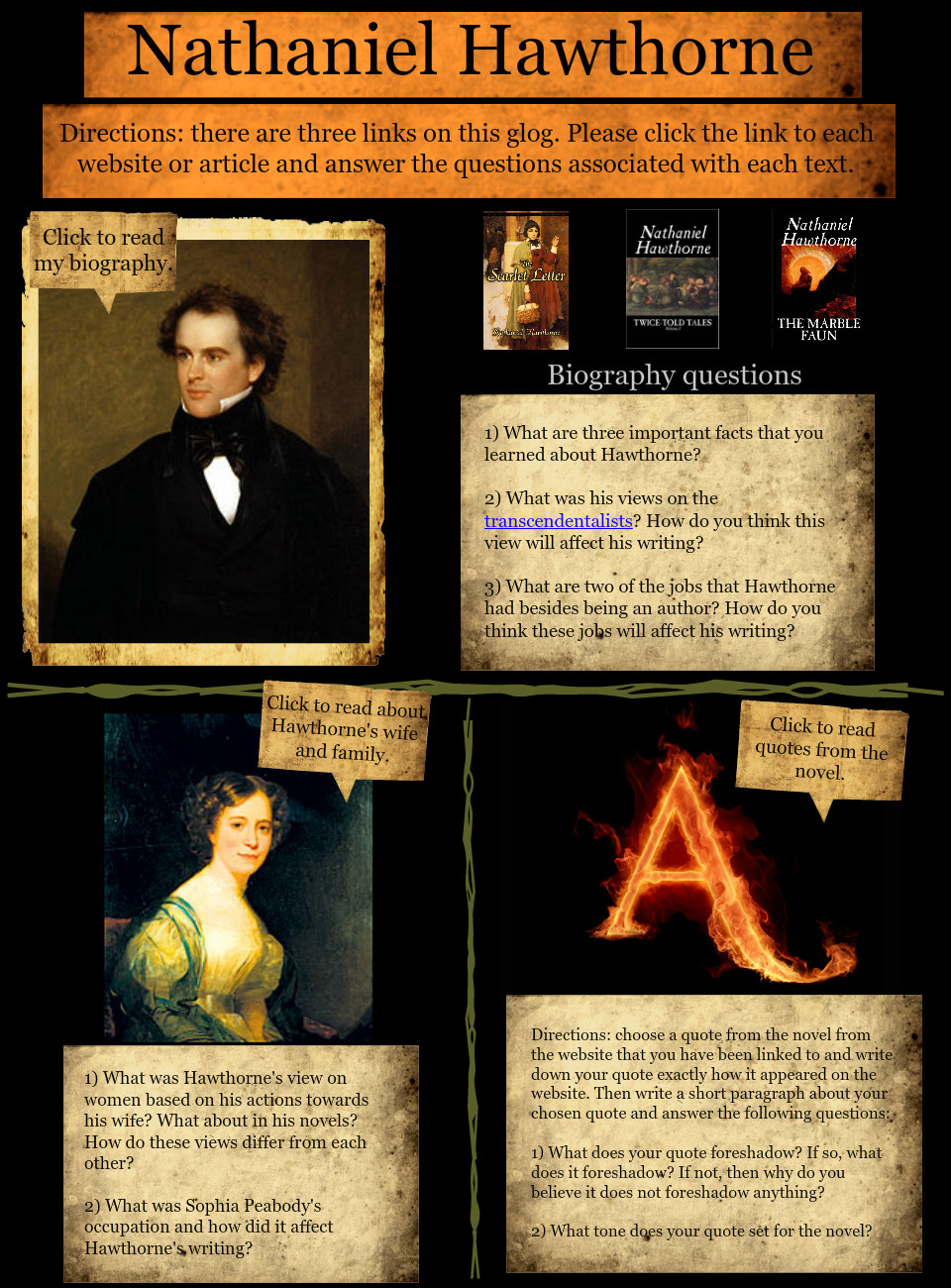 Biography of Nathaniel Hawthorne