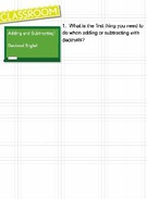 Adding and Subtracting Decimals's thumbnail