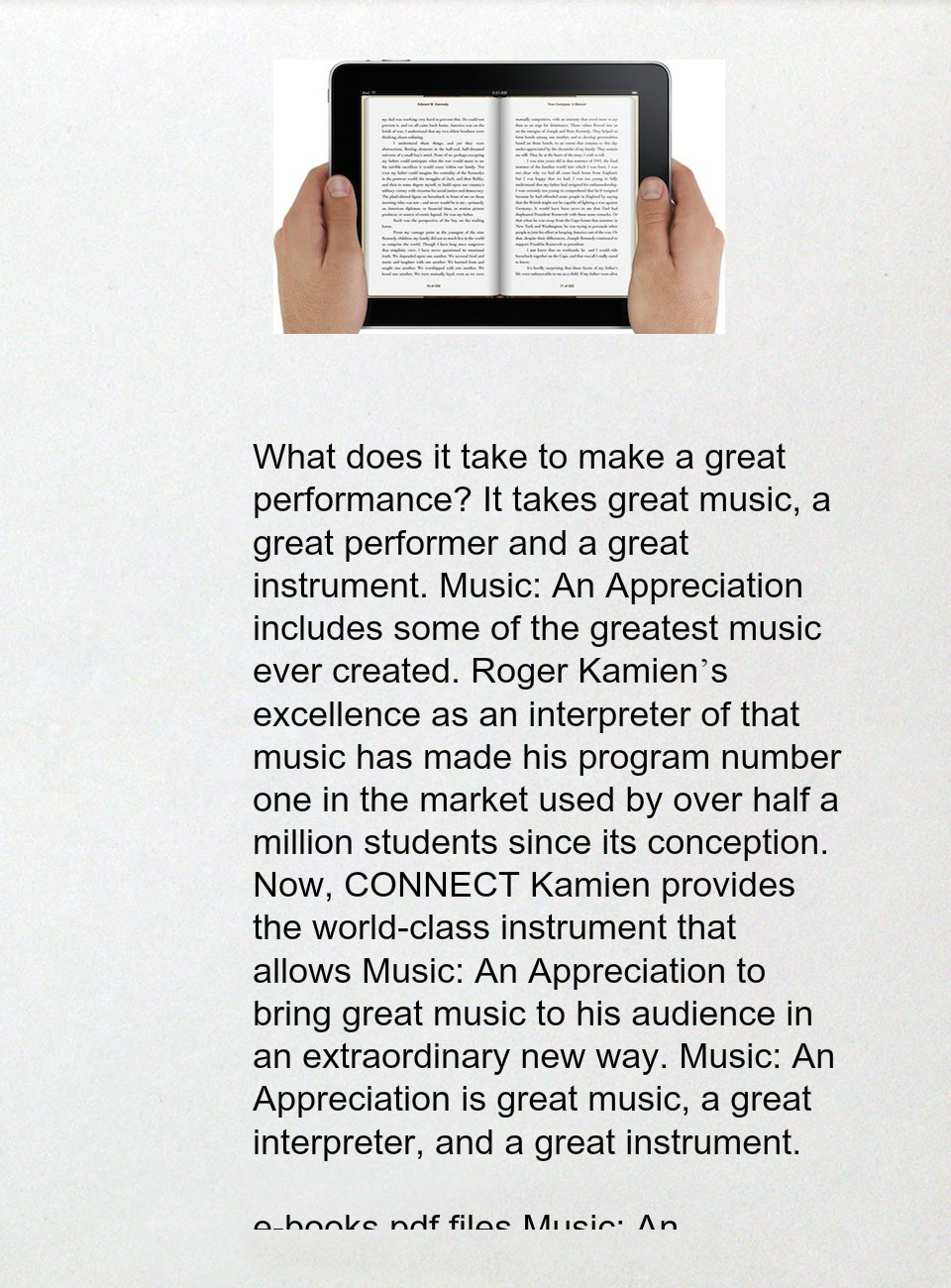 Music an appreciation 7th brief edition by roger kamien pdf epub music an appreciation 7th brief edition by roger kamien pdf epub doc djvu fandeluxe Choice Image