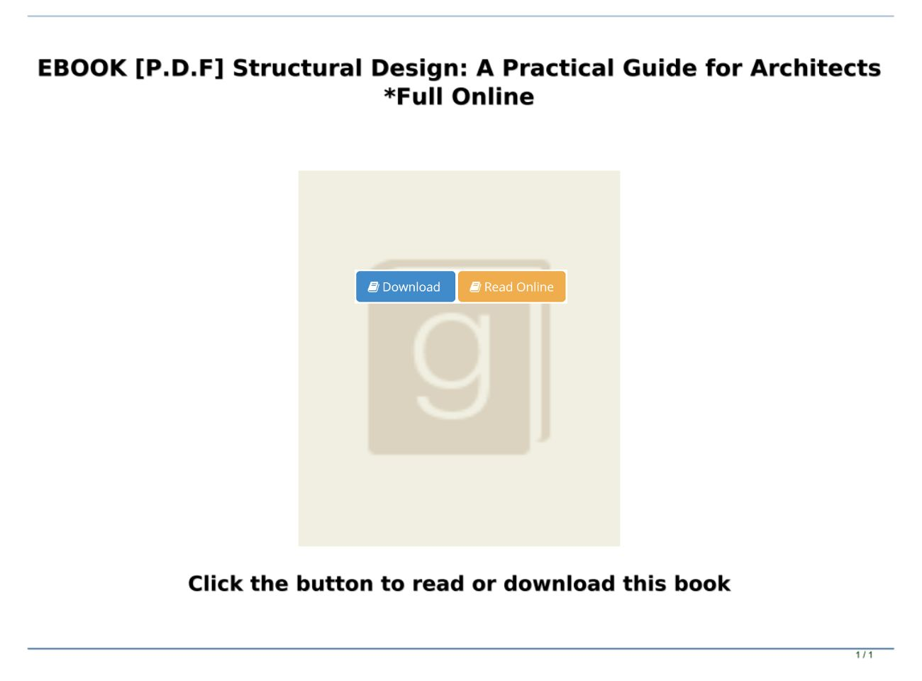 [P.D.F Download] Structural Design: A Practical Guide for Architects *Full Online